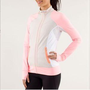 Lululemon Beach Runner jacket Dune/Coral/White